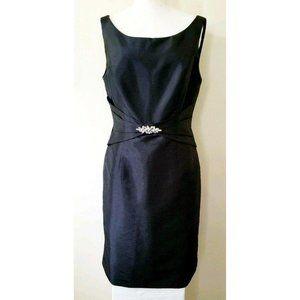 Jade By Jasmine Women's Solid Black Sheath Dress
